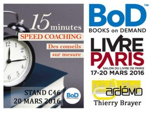 Speed Coaching en écriture au salon du livre de Paris