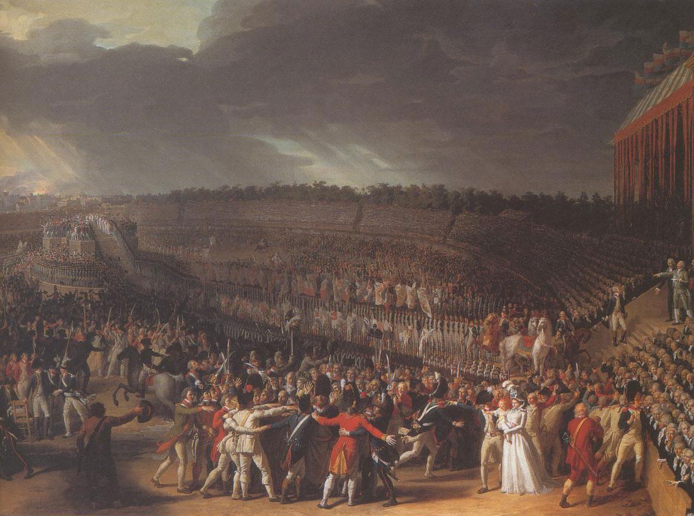 Fête de la Fédération par Charles Thévenin (musée Carnavalet - PARIS)